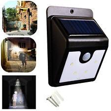 Solaire 6 LED Lampe Applique Jardin Etanche Détecteur Mouvement Senseur Capteur