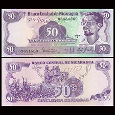 Nicaragua 50 Cordobas, 1984, P-140, UNC, Banknotes, Original