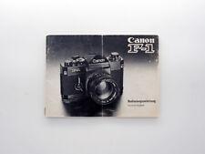 Original Handbuch Deutsche Ausgabe Bedienungsanleitung - Canon F1 F-1 Kamera