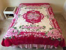 Korean Mink Blanket - Queen - Flower Design - 6.4 Lbs - Primo #203