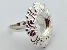 Authentic Kameleon 925 Silver Round Scroll Ring Ring Kr-10 Kr010  Size 8, New
