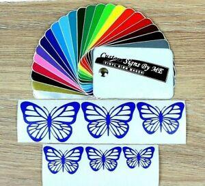 6x Butterflies Sticker Vinyl Decal Adhesive Car Wall Window Phone Laptop V.BLUE