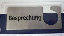 Türschild-Metall Besprechung Silber 20×8,5 cm für Büro Firma Konferenz R12 NEU