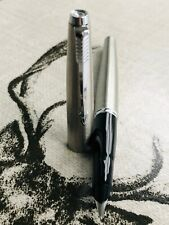 Parker 45 Flighter fountain pen & ballpoint pen , brushed steel, Fine nib
