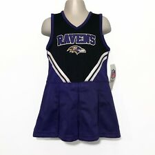 Nwt Purple Baltimore Ravens Girls Toddler 4T Cheerleader Dress Nfl Costume New