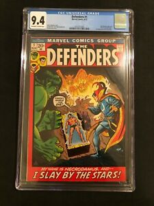 CGC 9.4 Defenders #1 MEGA KEY 1st Solo w/Hulk Dr. Strange Sub-Mariner HIGH GRADE