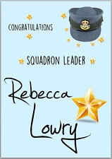 Congratulations RAF Squadron Card A5 Personalised with own words