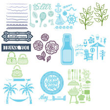 Beach Metal Cutting Dies Stencil DIY Scrapbooking Paper Card Crafts Embossing