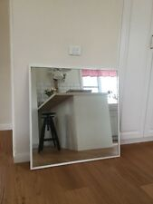 QUALITY BEVILLED MIRROR WITH SOFT WHITE DECORATIVE FRAME