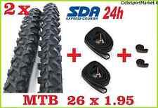 2 Neumáticos + 2 Cámaras de aire+SOLAPA CUBIERTA RAYOS bici Mountain Bike 26 X