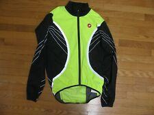 Castelli Mens Cycling Jacket Yellow Green Visibility Men's XL