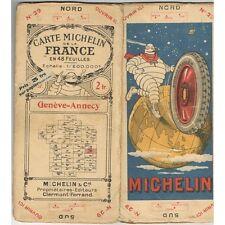 CARTE Michelin N°29 GENÈVE-ANNECY Nantua Sion Coligny Sierre Issogne Ugines 1923