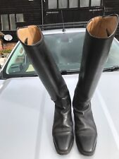 Cavello Black Leather Riding Boots, Size 5.5