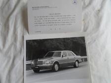 Mercedes Classe S Press Photo 1990 USA MARKET