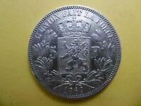 Belgium 5 francs 1869 silver coin