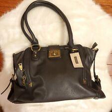 Wilson's Leather Black Rivet Shoulder Bag