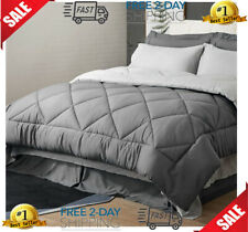 Bedsure Twin Xl Bed in A Bag - 6 Pieces Reversible Bedding Sets, Bed Sets Queen.