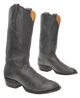 TONY LAMA Cowboy Boots 9.5 D Mens Gray Leather WESTERN Rancher Boots Motorcycle