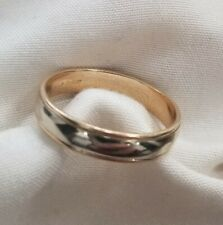 14k two tone yellow gold white gold wedding band size 10