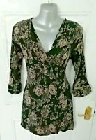 ❤ THE MASAI CLOTHING COMPANY Size 10 12 (M) Black Brown Crinkle Tunic Dress Top