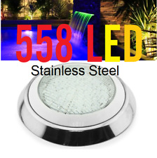New 558 LED Stainless Pool Lights + Remote With Color program  Free Connector