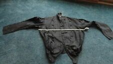 Vintage or older Victorian style black mourning dress blouse as is used