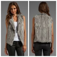 JOIE Rabbit ANDONI Fur Vest GRAY Grey $798 Anthropologie - M