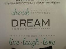 WALL POPS QUOTES CHERISH YESTERDAY DREAM TOMORROW LIVE LAUGH LOVE TODAY WALLPOPS
