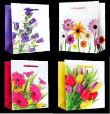 10//20 große Geschenktüten Geschenktaschen Papier Geschenkbeutel Blumen sk 0001-L