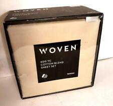 Malouf Woven Cotton Blend 600tc Sheet Set QUEEN