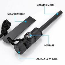 3 in 1 Fire Starter Outdoor Camping Survival Tool Magnesium Flint Stone Lighter