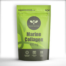 MARINE COLLAGEN 400mg CAPSULES Skincare Anti Ageing ✔UK Made ✔Letterbox Friendly