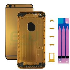 For Apple iPhone 6 Plus Housing Frame Metal Back Cover - Yellow Gold / Black