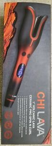 """CHI Lava 1"""" Volcanic Lava Ceramic Pro Spin N Curl Curling Iron & Waves"""