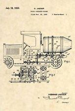 Official Concrete Mixer Truck Patent Art Print- Vintage Construction Cement -263