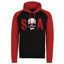 Officially Licensed Sons Of Anarchy - S-O-A Baseball Hoodie S-XXL Sizes