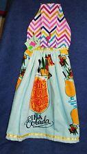 **NEW** Handmade Tropical Pina Colada Summer Hanging Kitchen Hand Towel #1659