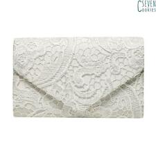 Ladies Grace Lace Envelope Clutch Bag Party Prom Wedding Evening Bag Handbag