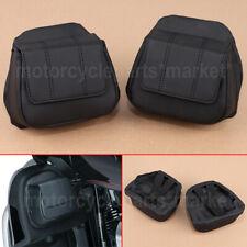Black Fairing Lower Door Pocket Bag For Harley FLHTK FLTR FLHX 2014-2019 15 16