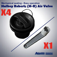 4 x Halkey-Roberts(HR) Air Valves / Wrench inflatable boat tender raft dinghy BL