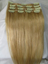 Full Head Women Clip in 100% Real Soft Human Hair Extensions 15-36inch Straight