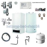 Buderus Gas Brennwert Logamax Plus GB 172 14KW mit Speicher S120 RC 310 W22