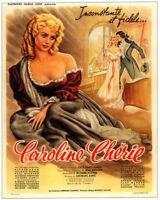 Caroline chèrie Martine Carol 1951 French movie poster
