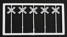 HO Gauge-Tichy Train Group-Railroad Accessories-10 Pcs. RR Crossing Signs-1HO