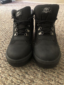Timberland 6531A Men's Hiker Field Black Leather/Canvas Boots Size US 9