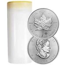 Lote de 25 - 2020 Plata 5 dólares canadienses Maple Leaf 1 OZ Completo uncirculated brillante
