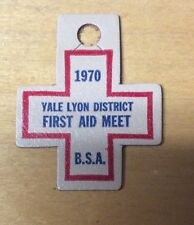 BOY SCOUTS AWESOME!!! 1970 OTSCHODELA COUNCIL YALE LYON DIST LEATHER  PATCH  NEW