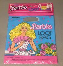 NOS Vintage 1988 Mattel Barbie Party Favor Loot Bags Set of 8