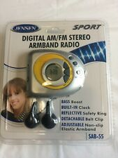 Jensen Sport Digital Am/Fm Stereo Armband Radio New unopened Silver