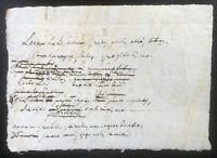 Antico biglietto manoscritto XVI XVII Secolo - Scritto in Latino